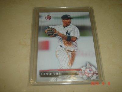 美國職棒 Yankees Gleyber Torres 2017 Bowman Prospects 球員卡