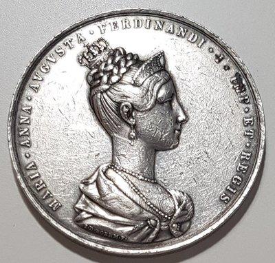 奧地利銀章 1836 Austria The Bohemian Silver Medal