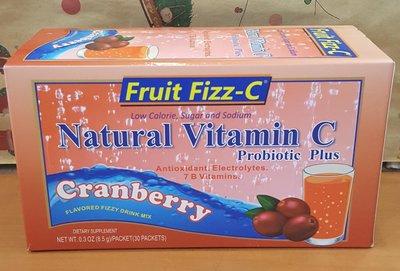 Fruit Fizz-C天然泡泡C(小紅莓)