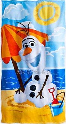 哈美族 美國 迪士尼 Disney 冰雪奇緣 Frozen 雪寶 Olaf 全棉 大毛巾/游泳浴巾/海灘巾