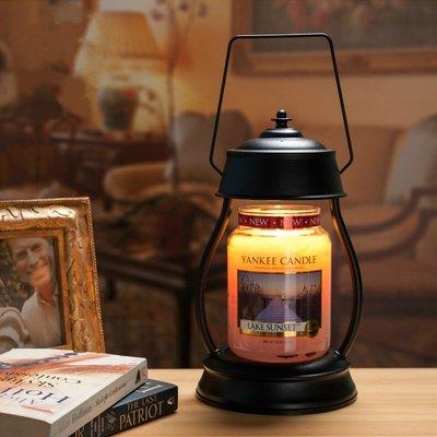ღ萊姆森林【Candle Warmers融蠟燈+皮革提杯香氛蠟燭 組合 黑色】預購【FG18060004】