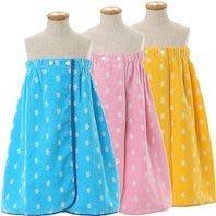 日本製 人氣 RAINBOW BEAR 彩虹熊 純棉 毛巾布料 鬆緊帶 圍裙 浴巾