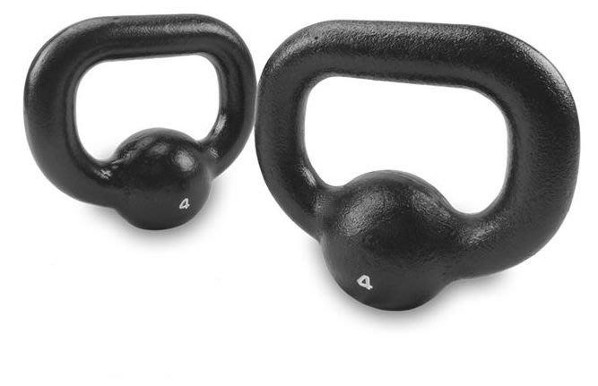 XOANON 洛恩耐運動健身 訓練壺鈴 4公斤、一組2個、傳統壺鈴、鑄鐵壺鈴、經典壺鈴4kg、吊環啞鈴