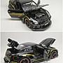 『現貨』日系超跑 東瀛戰神 Nissan GTR 大尾翼版1:32 仿真合金模型車/聲光回力 盒裝 帶底座 附電池