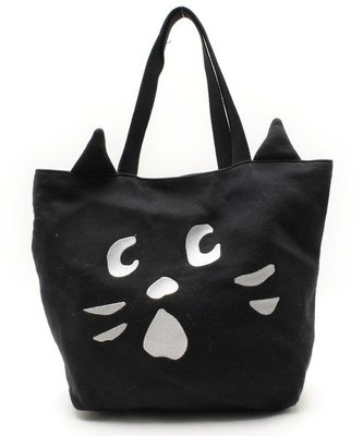 Nya- 貓耳造型托特包 手提袋 側背包 帆布包 購物袋 驚訝貓 Ne-net 三宅一生副牌 日本品牌 日牌 古著