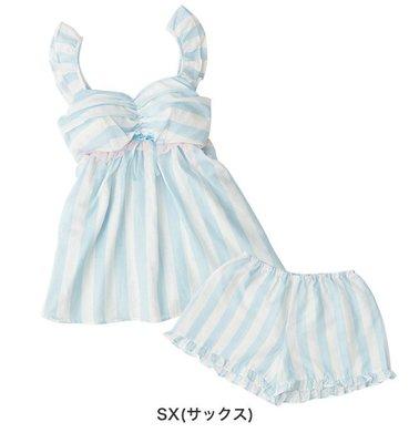 【Mr.Japan】日本Narue 台灣kanaii boom 居家服 上衣+褲子 條紋 清新 睡衣 成套 藍 預購款