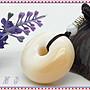 【家蓁香二館】 頂級 海南天然天然玉化『紫料硨磲』平安如意平安扣麵包圈貝殼飾品 禮物(ASD-29)