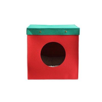 家裡的小怪獸   CATSCITY原創圣誕毛氈貓窩圣誕禮盒式保暖貓床貓房深度睡眠送墊子