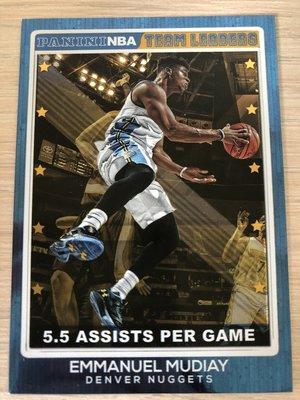 Emmanuel Mudiay #18 2016-17 Panini NBA Hoops Team Leaders