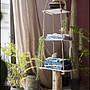 南法鄉村風 麻繩三層木板展示架 木製衣帽架...