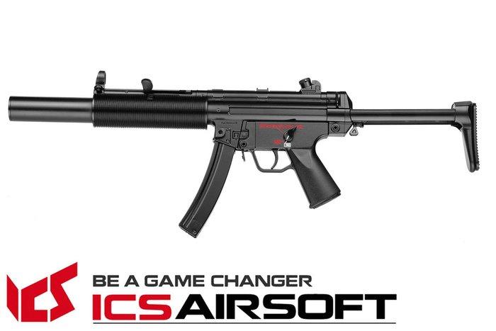【翔準軍品AOG】ICS CES SD6(黑)伸縮托 MP5 衝鋒槍 電動槍 全金屬 生存遊戲 ICS-02