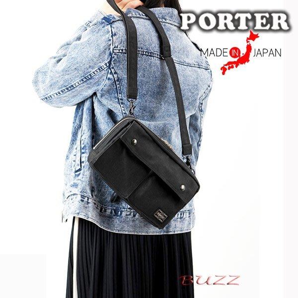 巴斯 日標PORTER屋-二色預購 PORTER SMOKY 手拿-斜背包(附手提帶) 592-06369