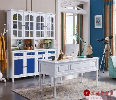 [紅蘋果傢俱]KDD82 四門書櫃 書桌 書椅 衣帽架 衣帽櫃 實木  兒童家具