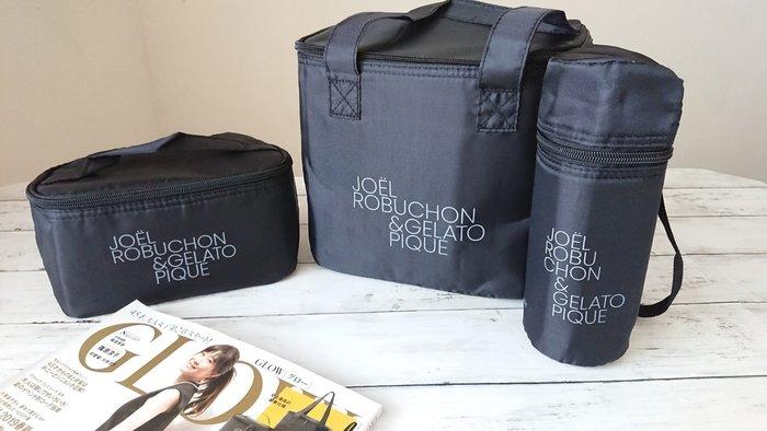 ☆Juicy☆日本雜誌附錄 JOEL ROBCHON 保溫包 保冷手提袋 便當袋 托特包 水壺套 3件組 2414
