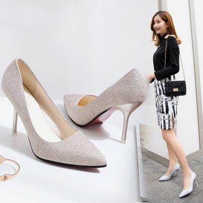 【熱門貨】高跟鞋新款高跟鞋shoes女韓版淺口春秋女士尖頭細heeled韓版鞋款