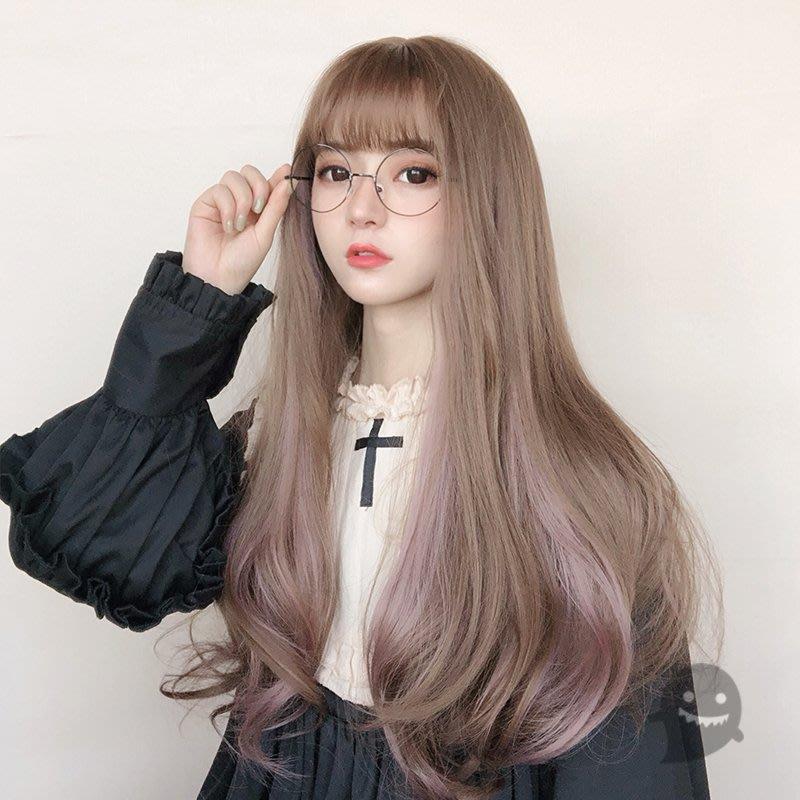 小娜的店-原宿軟妹lolita精靈造型 甜甜可愛少女卷發 挑染長卷發