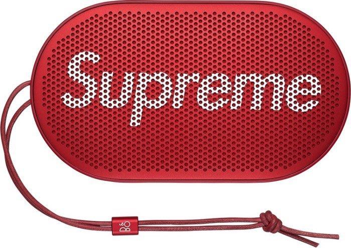 【美國鞋校】代購 Supreme x B&O PLAY P2 聯名 紅色無線藍芽喇叭