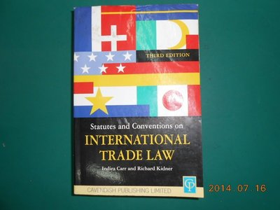 《Statutes and Conventions on INTERNATIONAL TRADE LAW》七成新 THI