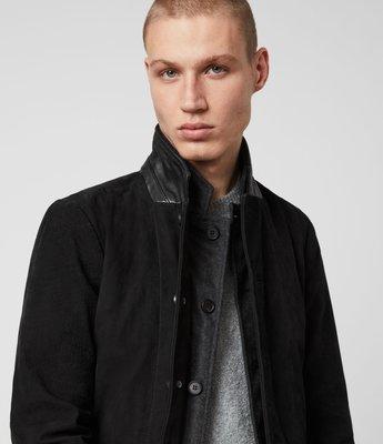[ Satisfaction ] 英國品牌All Saints經典款Suvey Leather Blazer真皮西裝
