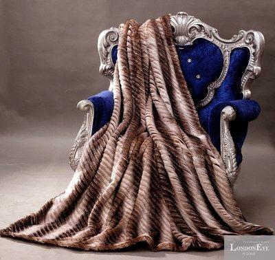 【 LondonEYE 】NeoClassic新古典X奢華織品人造皮草X床尾裝飾蓋毯  日本高端超軟毛皮 豪宅BL02
