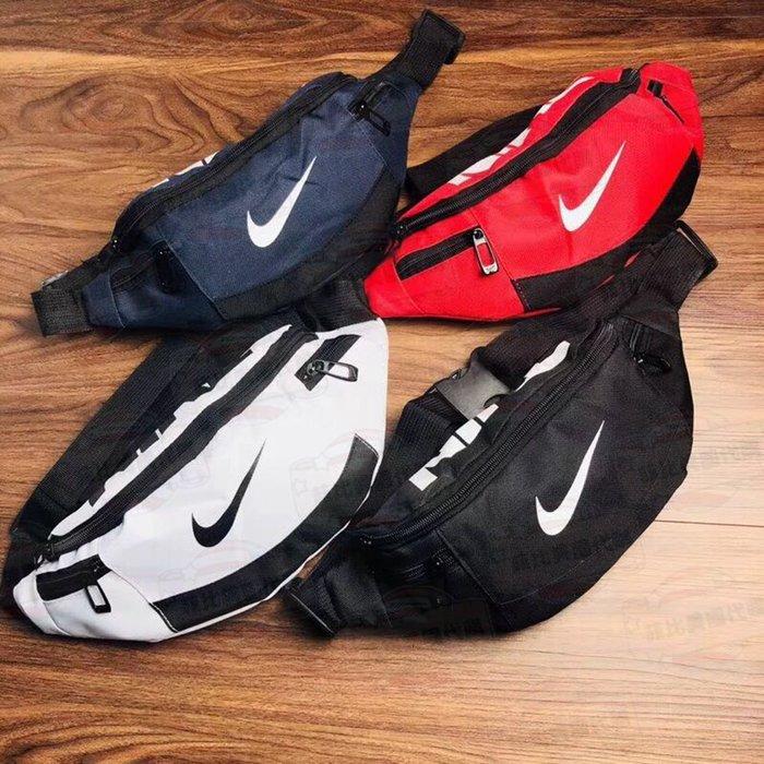 【菲比代購&歐美精品代購專家】Nike 經典LOGO 帆布材質 腰包 時尚胸包 斜背包 單肩包 男女通用 多色