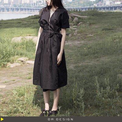 6/5新品►DR.DESIGN│DR31469特價-暗黑 薄款 日系和服 蝙蝠袖 暗扣 薄棉 短袖洋裝