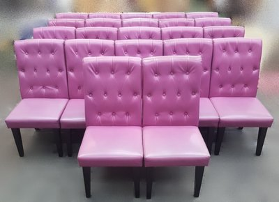 【宏品二手家具館】中古家具 家電 F830530*粉色皮餐椅*洽談椅 書桌椅 二手餐桌 營業器材 沙發組 二手家具大特賣