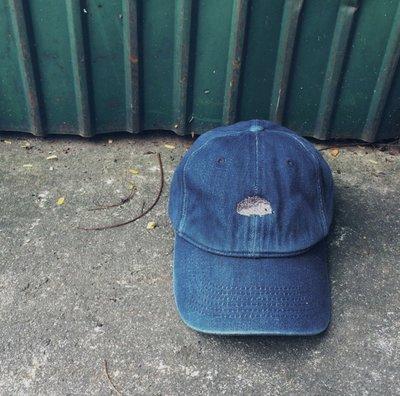Hedgehog Cap Denim 刺蝟鴨舌帽 牛仔藍 購於pinkoi