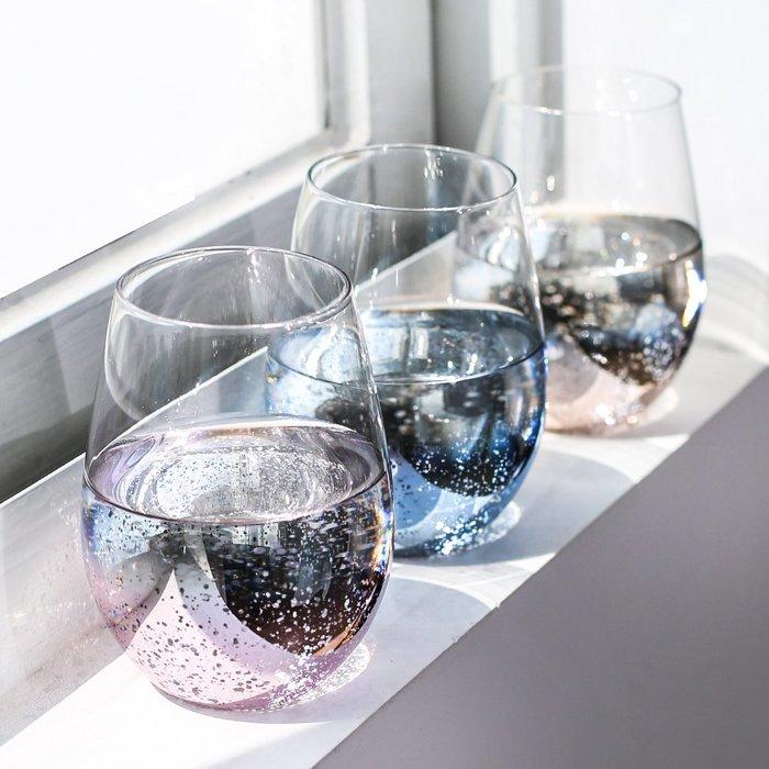 銀河系玻璃杯 星空杯 星空蛋形杯 星空玻璃杯