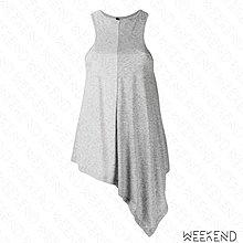 【WEEKEND】 UNRAVEL 拼接 寬鬆 長版 不規則下擺 不對稱 無袖 背心 灰色 19春夏
