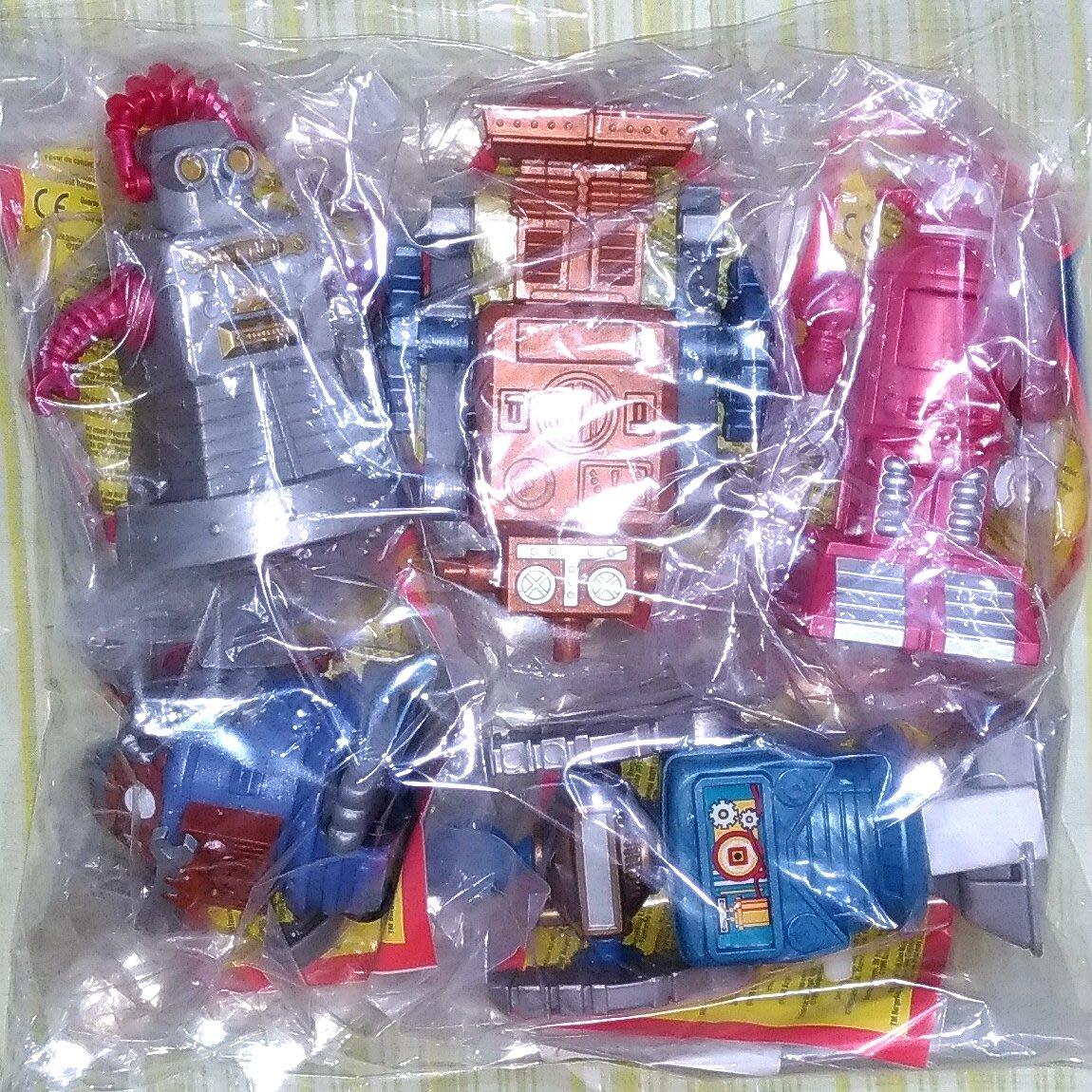 《NATE》收藏早期BURGER KING漢堡王玩具【1998-發條行走機器人】5款一組