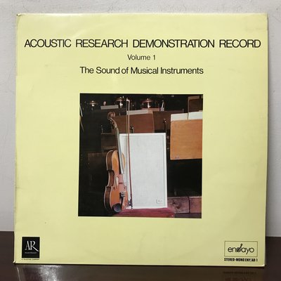 晨雨黑膠【古典】美或西班牙版/Acoustic Research Demonstration Record. Vol.1