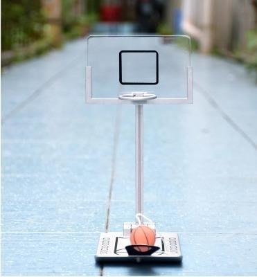 初見  桌面折疊籃球機投籃架 辦公室桌面遊戲創意減壓玩具成人兒童禮物 初見