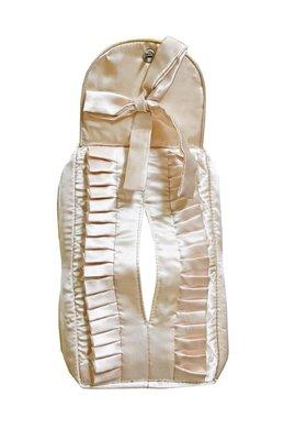 特價 蕾絲收納! 粉色 緞布 衛生紙套 面紙套 收納套 收納袋  V-019