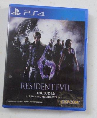 PS4 惡靈古堡 6 BIOHAZARD RESIDENT EVIL 6 電玩遊戲片 英文版
