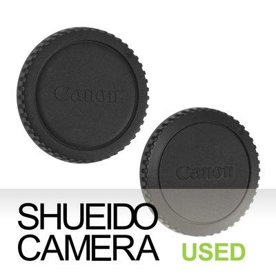 集英堂写真機【全國免運】良上品 CANON 原廠相機機身蓋 機身保護蓋 2枚組合 EOS 底片 數位 機身用 19507