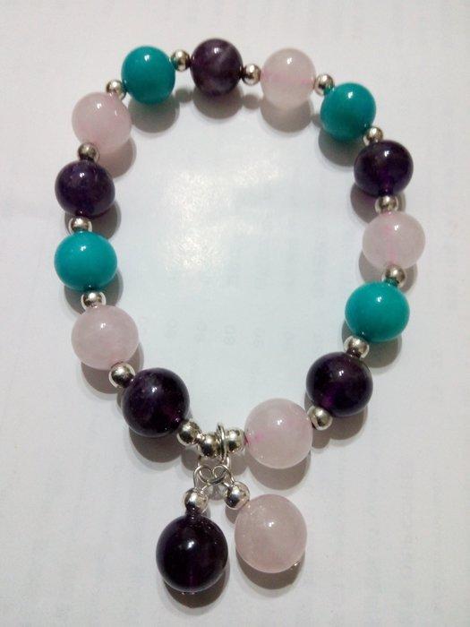 【九龍藝品】設計款水晶手珠 ~ 彈性線,珠子約10mm (1)