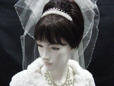 結婚飾物;髮飾;新娘婚禮頭飾;新娘飾物;婚禮皇冠; BRIDE BAND;BRIDAL HEADPIECE;WEDDING TIARA COMB#20086
