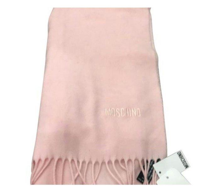 天使熊雜貨小舖~MOSCHINO羊毛圍巾  40×170cm  全新現貨