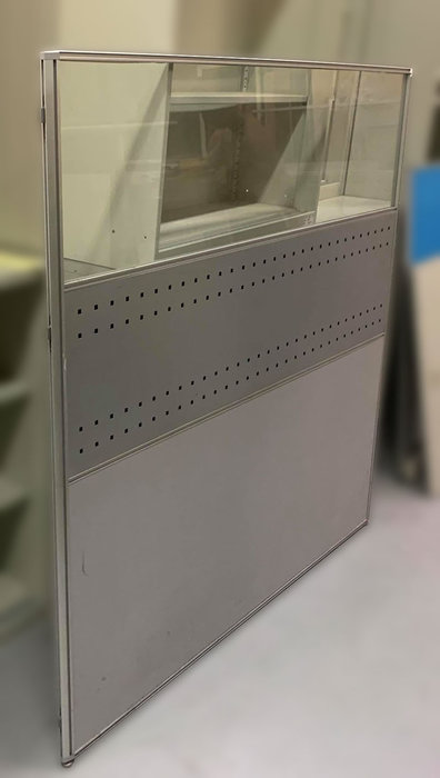宏品2手家具館 二手辦公傢俱大特價 C80103*透明玻璃辦公隔間屏風*辦公設備拍賣 辦公桌椅 書桌椅 會議桌 鐵櫃新竹