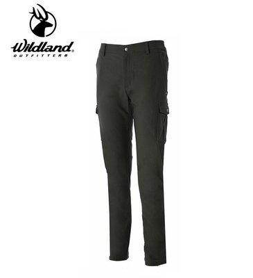 丹大戶外用品【Wildland】荒野 男Re超彈性貼袋保暖長褲 型號 0A52396-48 深墨綠