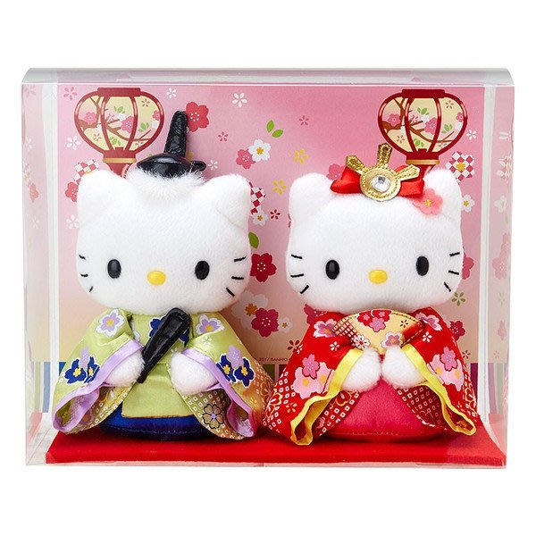 現貨  日本三麗鷗 凱蒂貓和丹尼爾 2017女兒節人偶擺飾
