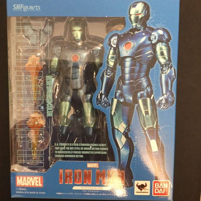 COME 玩具 日本帶回 正版 萬代 全新 鋼鐵人 MK-III 藍色塗裝