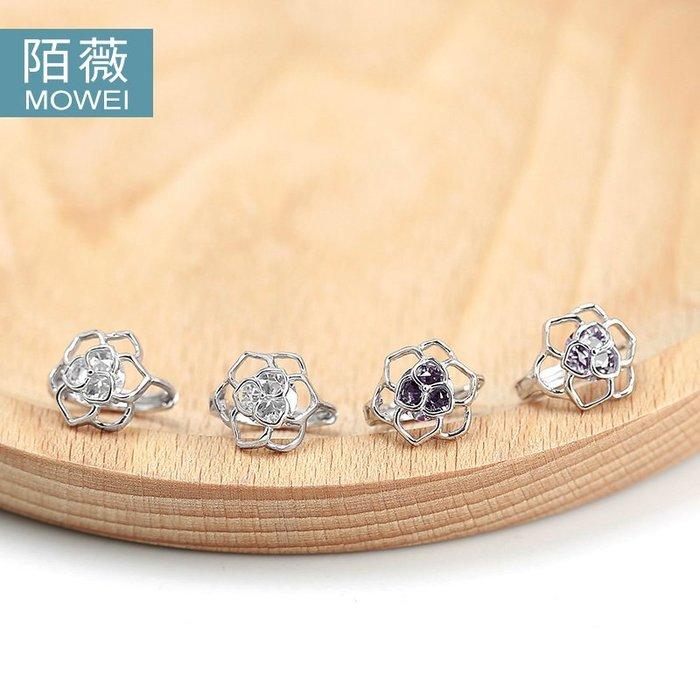 Lissom韓國代購~S925銀耳釘耳扣女水晶鉆耳環圈韓國復古氣質耳環耳飾品禮物刻字