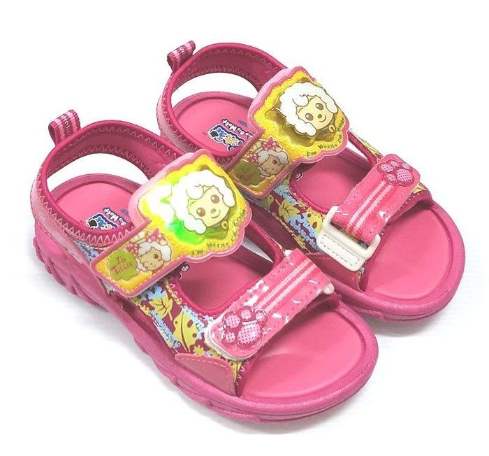 【菲瑪】喜羊羊與灰太狼 電燈涼鞋 粉紅XYKS45103  出清
