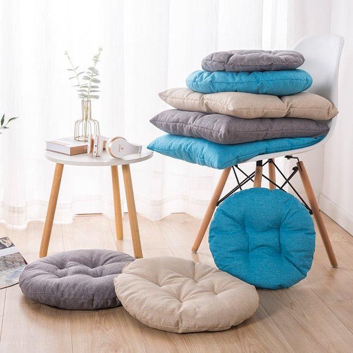 坐墊家用透氣椅墊加厚軟簡易單人辦公室座墊懶人沙發榻榻米飄窗椅【優品城】