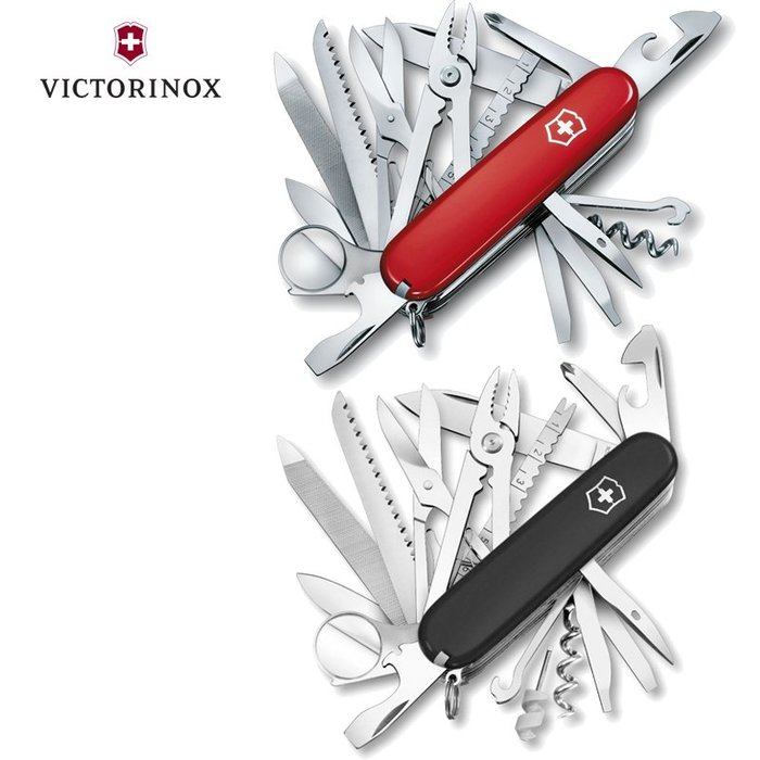 瑞士維氏 Victorinox 33用 瑞士刀 SwissChamp 1.6795 紅色53501 黑色53503
