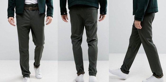 ◎美國代買◎ASOS無摺痕褲面反摺褲口復古20年代英倫高腰設計長褲~歐美街風~大尺碼
