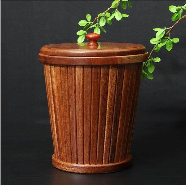 5Cgo【茗道】含稅會員有優惠 41843232889 花梨木茶水桶垃圾桶茶渣桶茶盤排水桶功夫茶具茶道配件木茶桶木桶