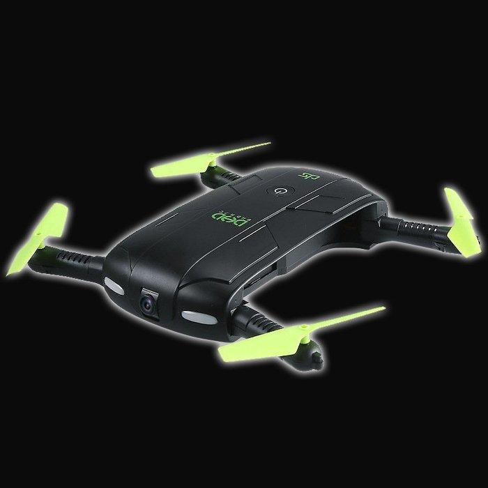 5Cgo【智能】可攜式掌上機翼折疊四軸飛行器WIFI 30W像素定高手機遙控即時傳輸自拍無人機LED夜航燈 DHD D5